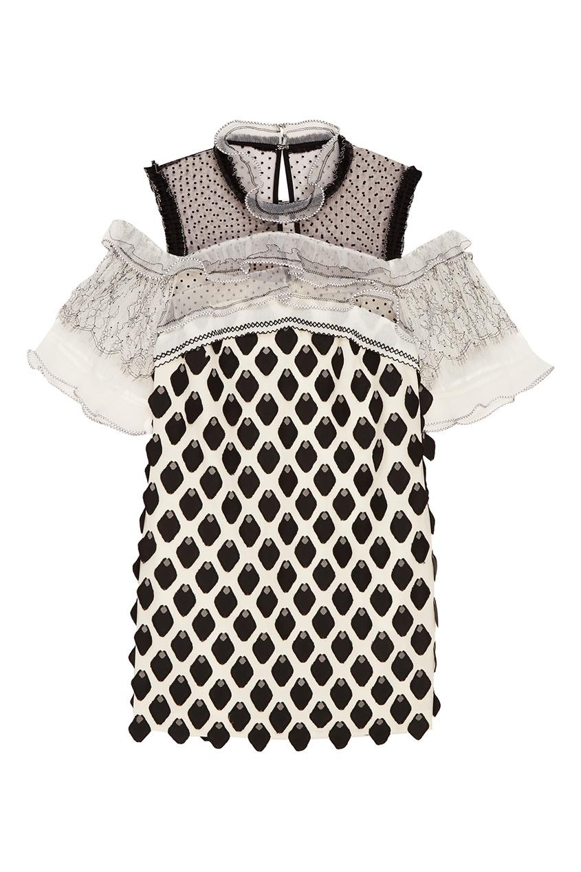 Декорированное платье с оборками