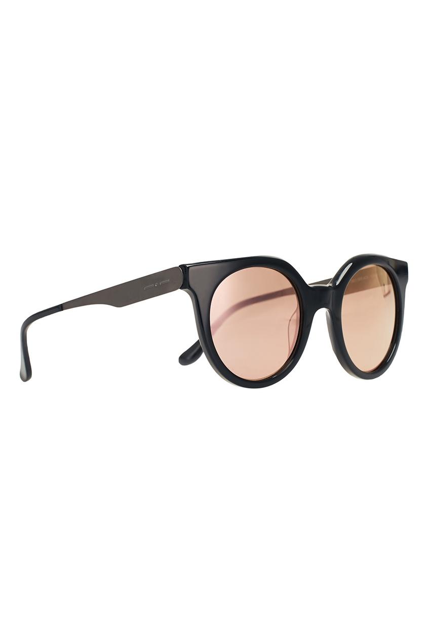 Черные круглые очки