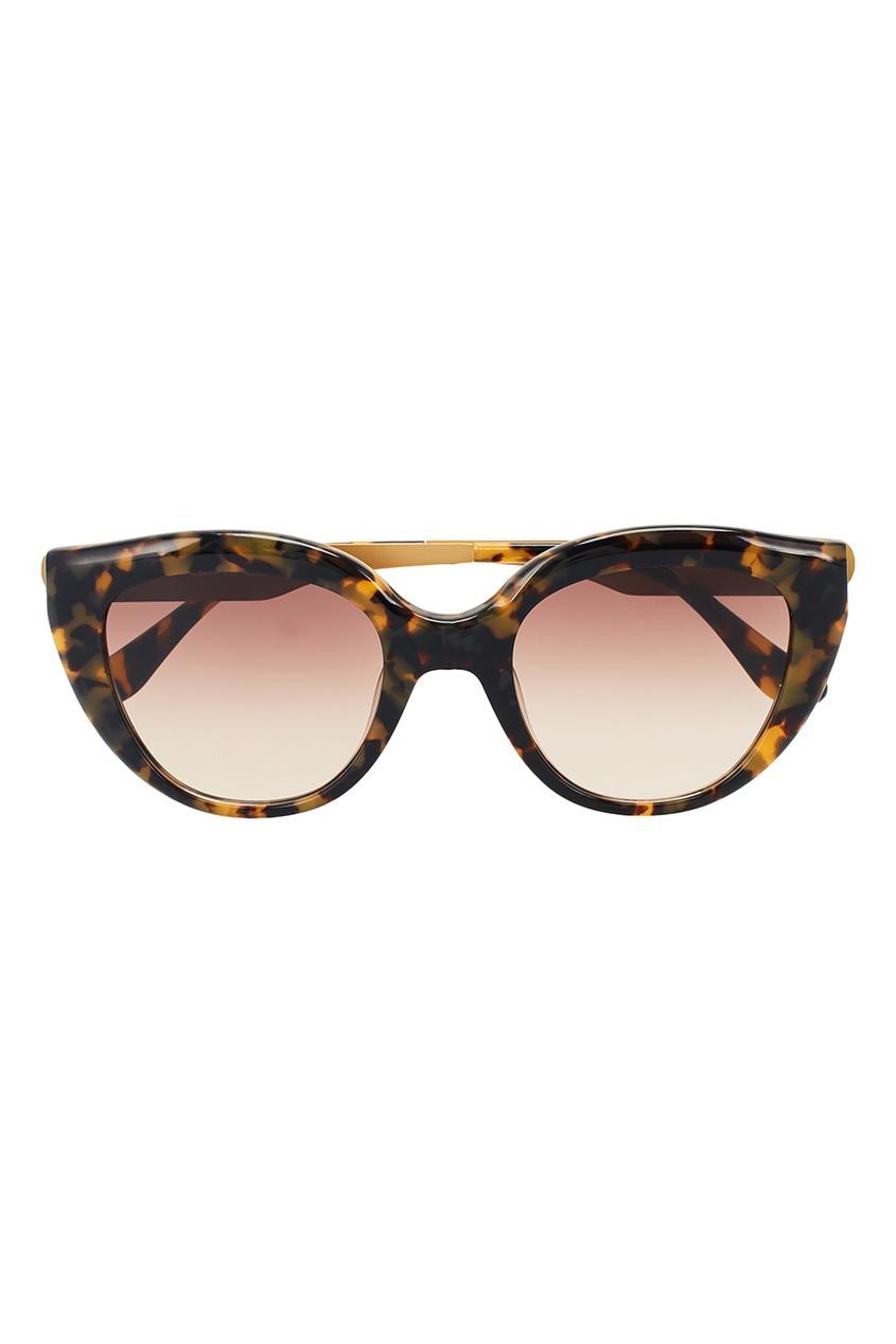 ITALIA INDEPENDENT Черепаховые солнцезащитные очки приколы дебильные очки с изображением глаз купить в новосибирске