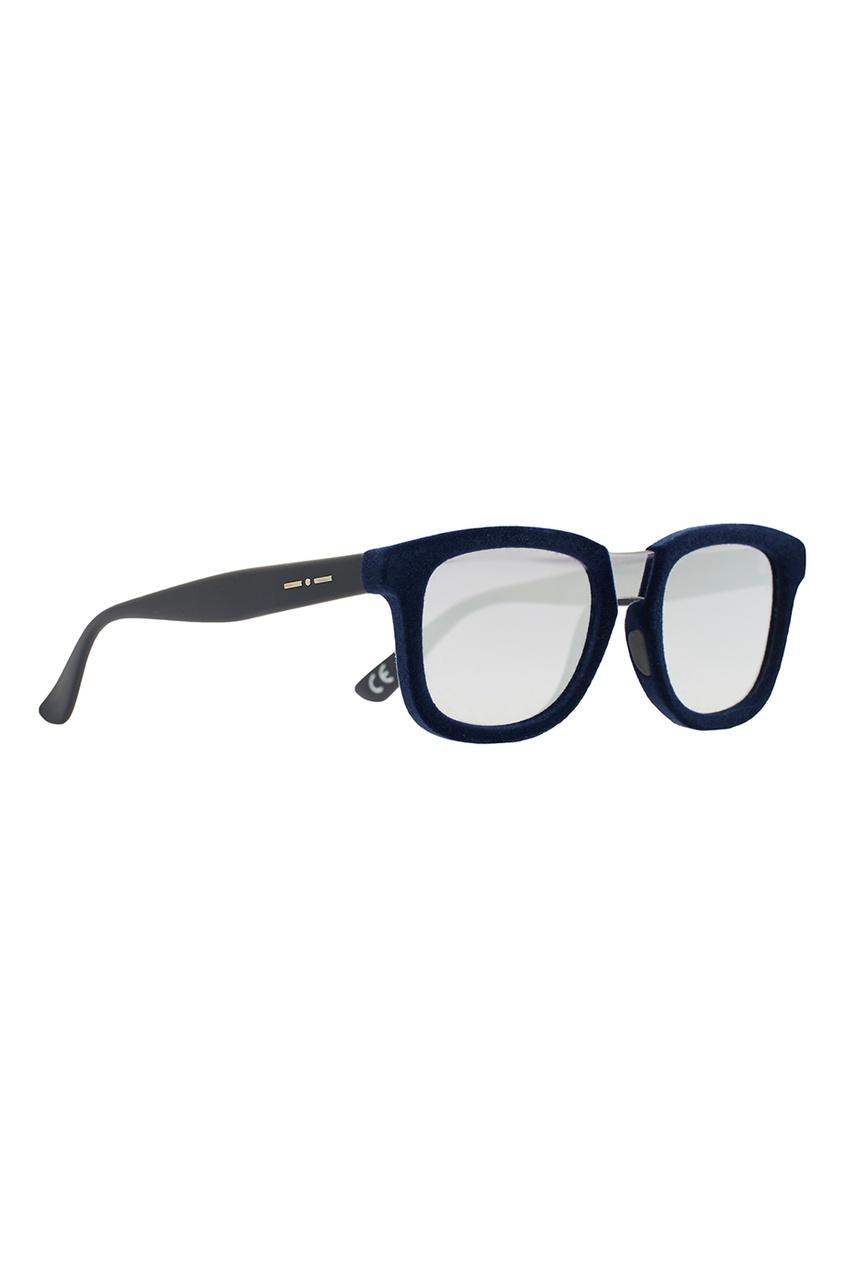 Синие очки с зеркальными линзами