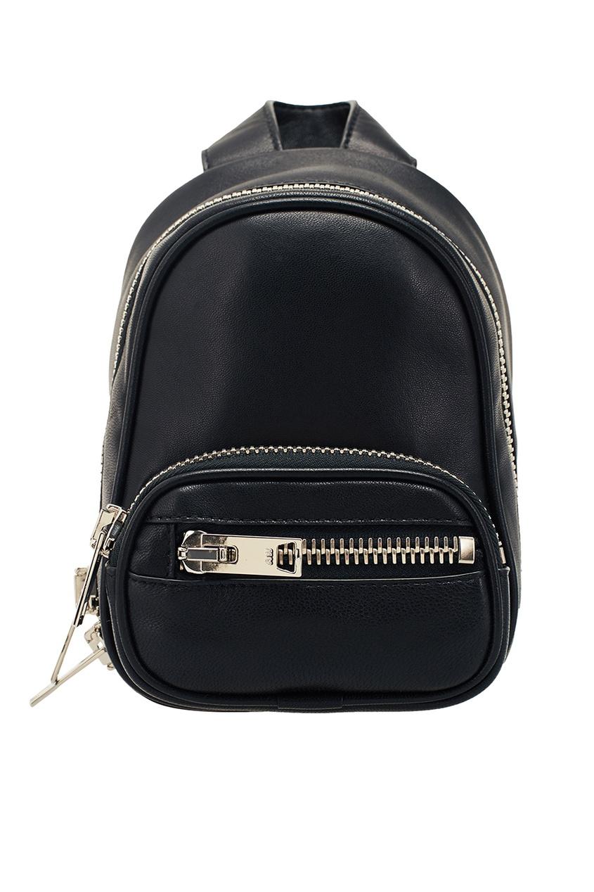 Alexander Wang Черный кожаный мини-рюкзак кожаный рюкзак