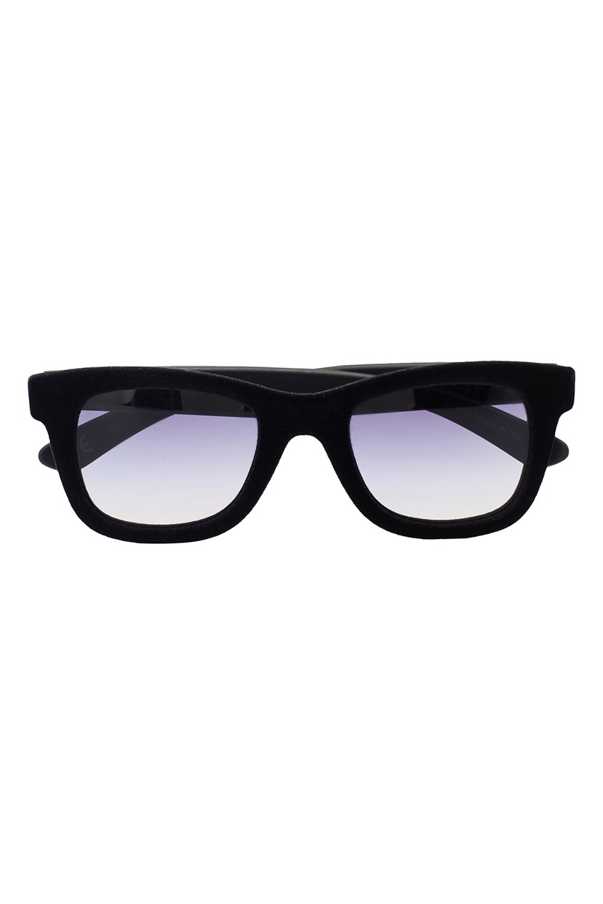 Черные очки с бархатом