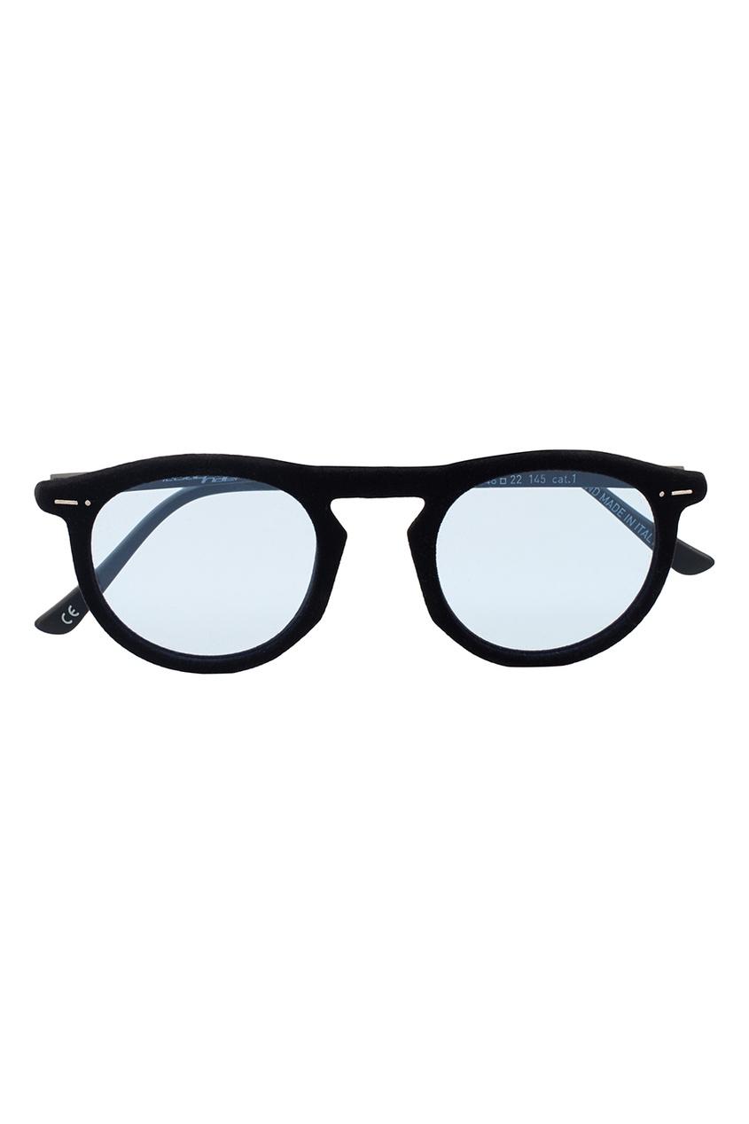 ITALIA INDEPENDENT Черные очки с голубыми линзами vogue vogel очки черного кадра серебряного покрытия линза мода полной оправе очки vo5067sd w44s6g 56мм