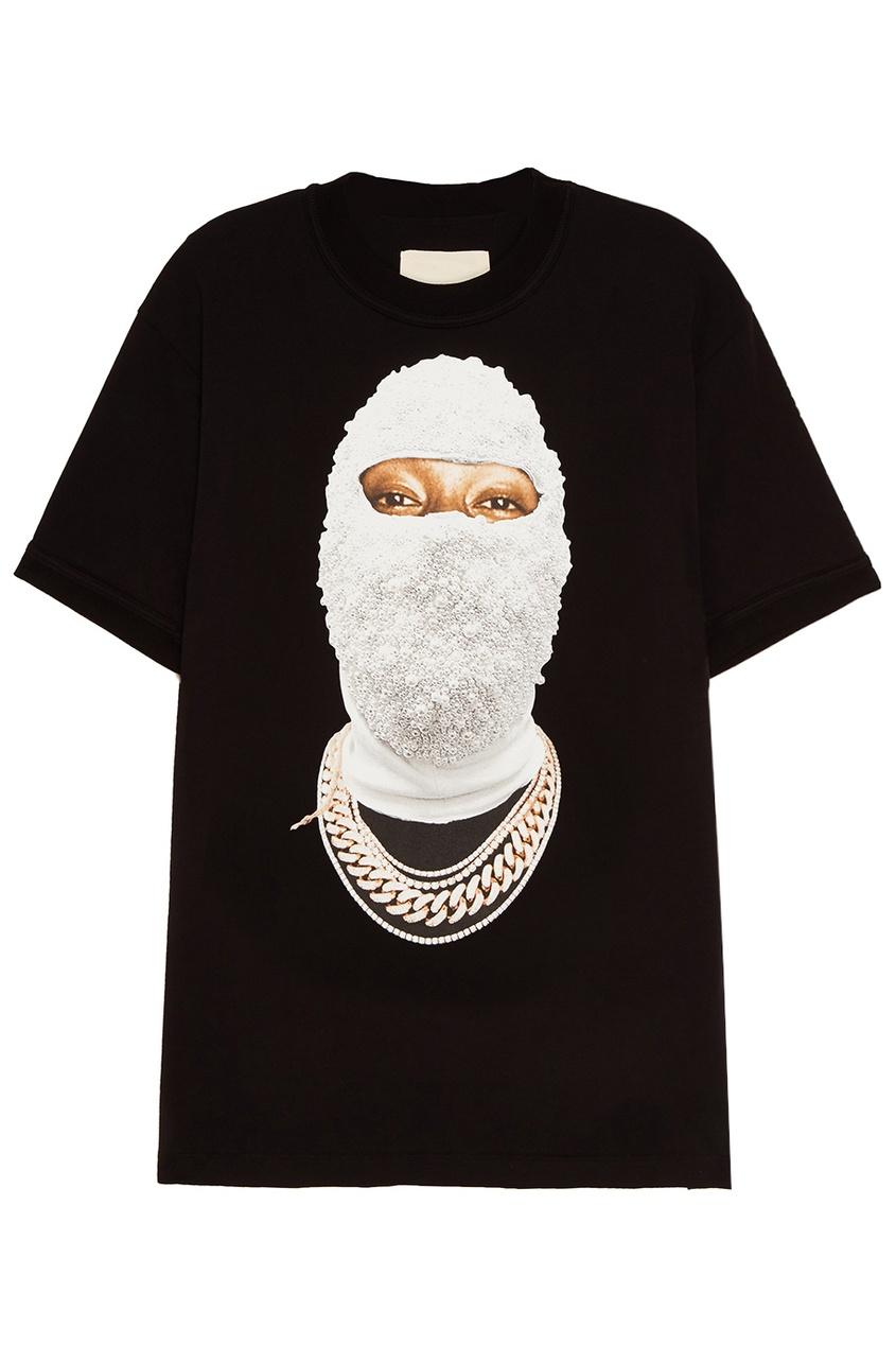 IH NOM UH NIT Черная футболка с фотопринтом uh oh