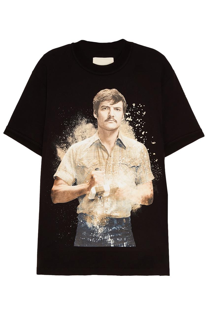 IH NOM UH NIT Черная футболка с принтом Pena ih 3776wv