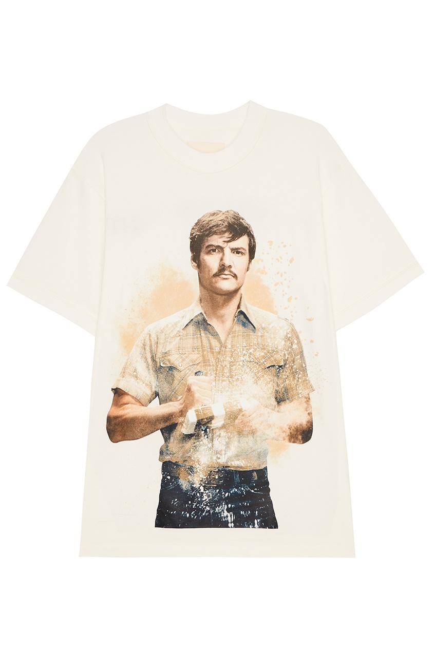 IH NOM UH NIT Белая футболка с фотопринтом Pena ih 3776wv