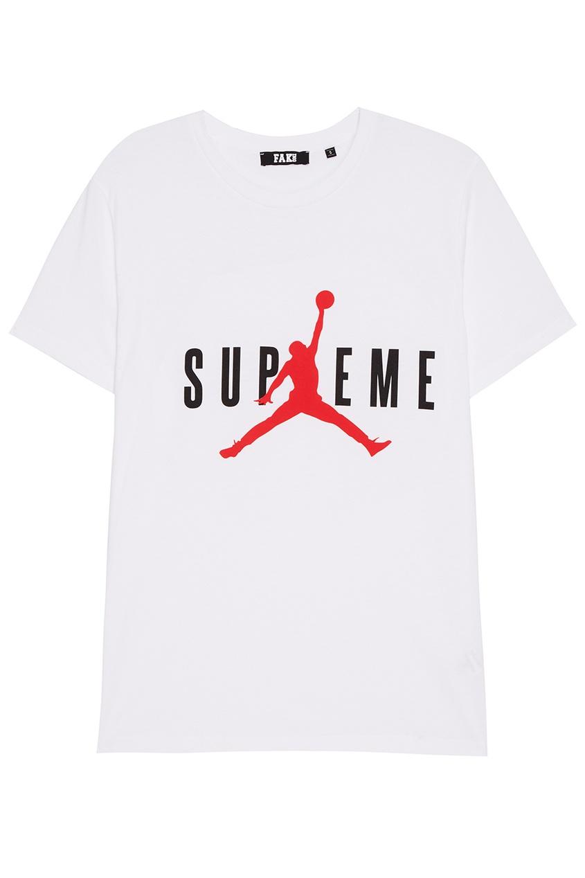 FAKing Белая футболка с надписью футболка белая с принтом ido ут 00004169