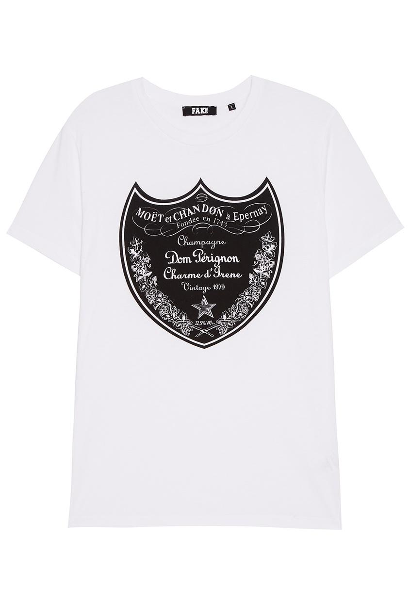 FAKing Белая футболка с эмблемой levi's® белая футболка с эмблемой the perfect tee