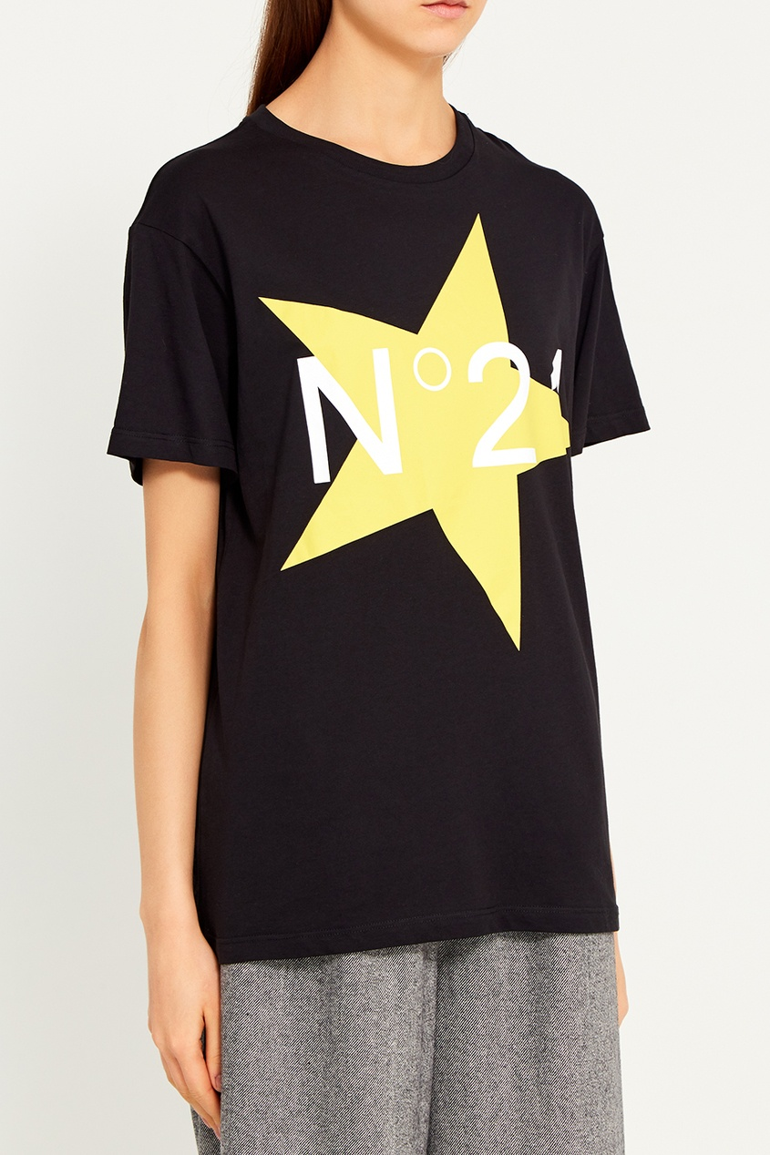 No.21 Черная футболка со звездой