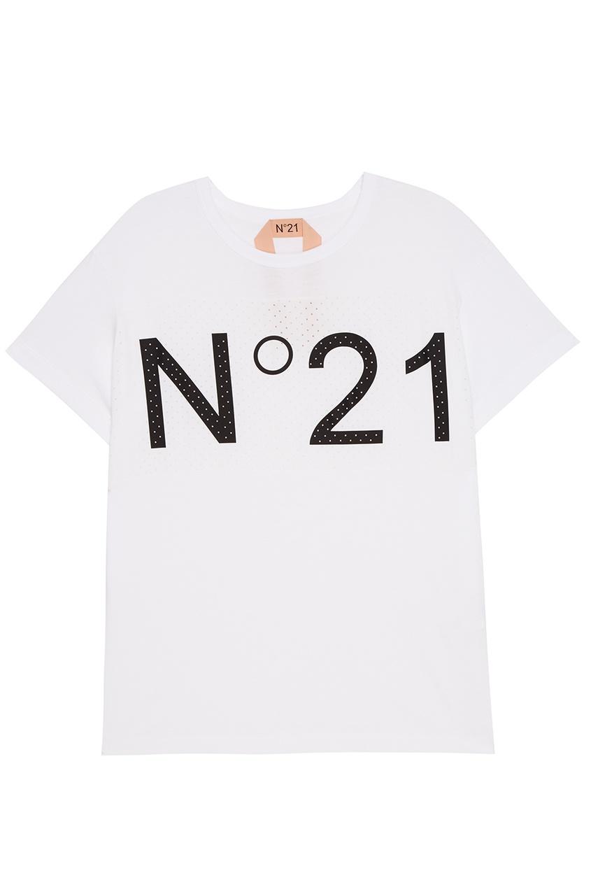 No.21 Белая футболка с перфорацией лапчатка белая корень для посадки