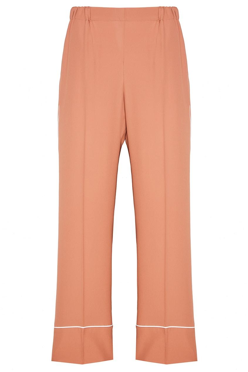 Бежевые широкие брюки