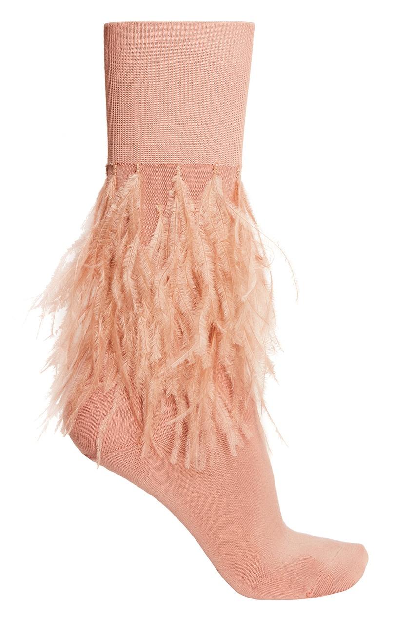 No.21 Розовые носки с перьями no 21 хлопковая рубашка с перьями