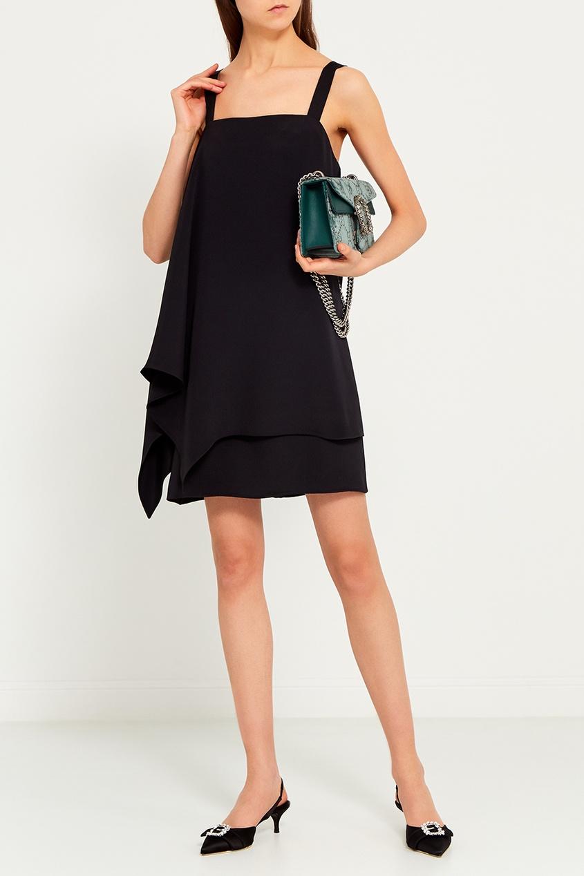 Chapurin Черное шелковое платье элегантное черное платье где