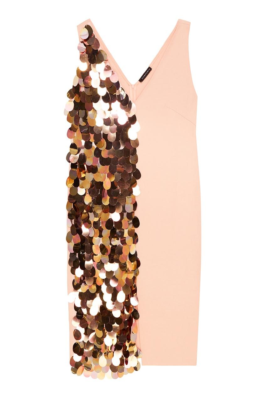 Chapurin Платье с золотистыми пайетками no name юбка с золотистыми пайетками