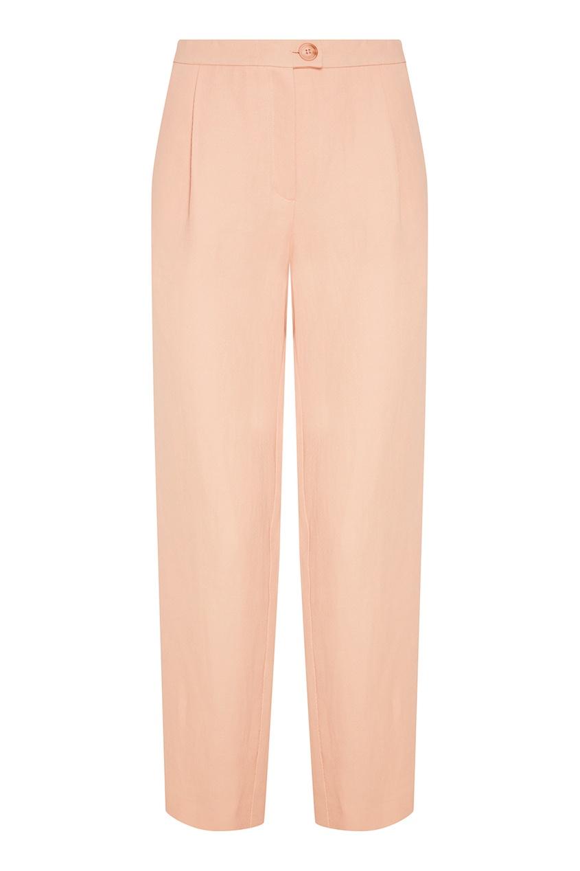 Chapurin Бежевые широкие брюки брюки прямые из льна