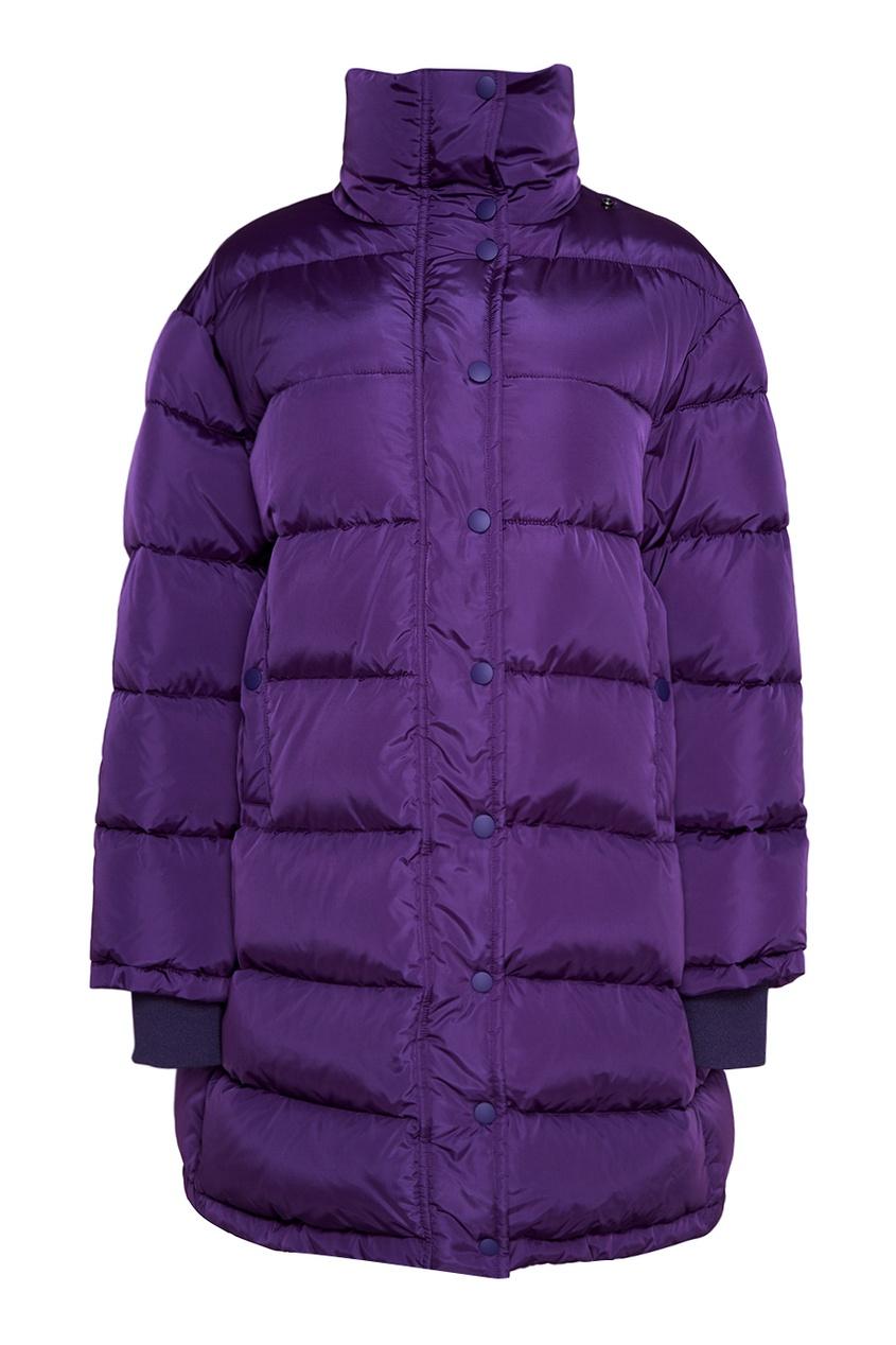 Фиолетовый пуховик oversize