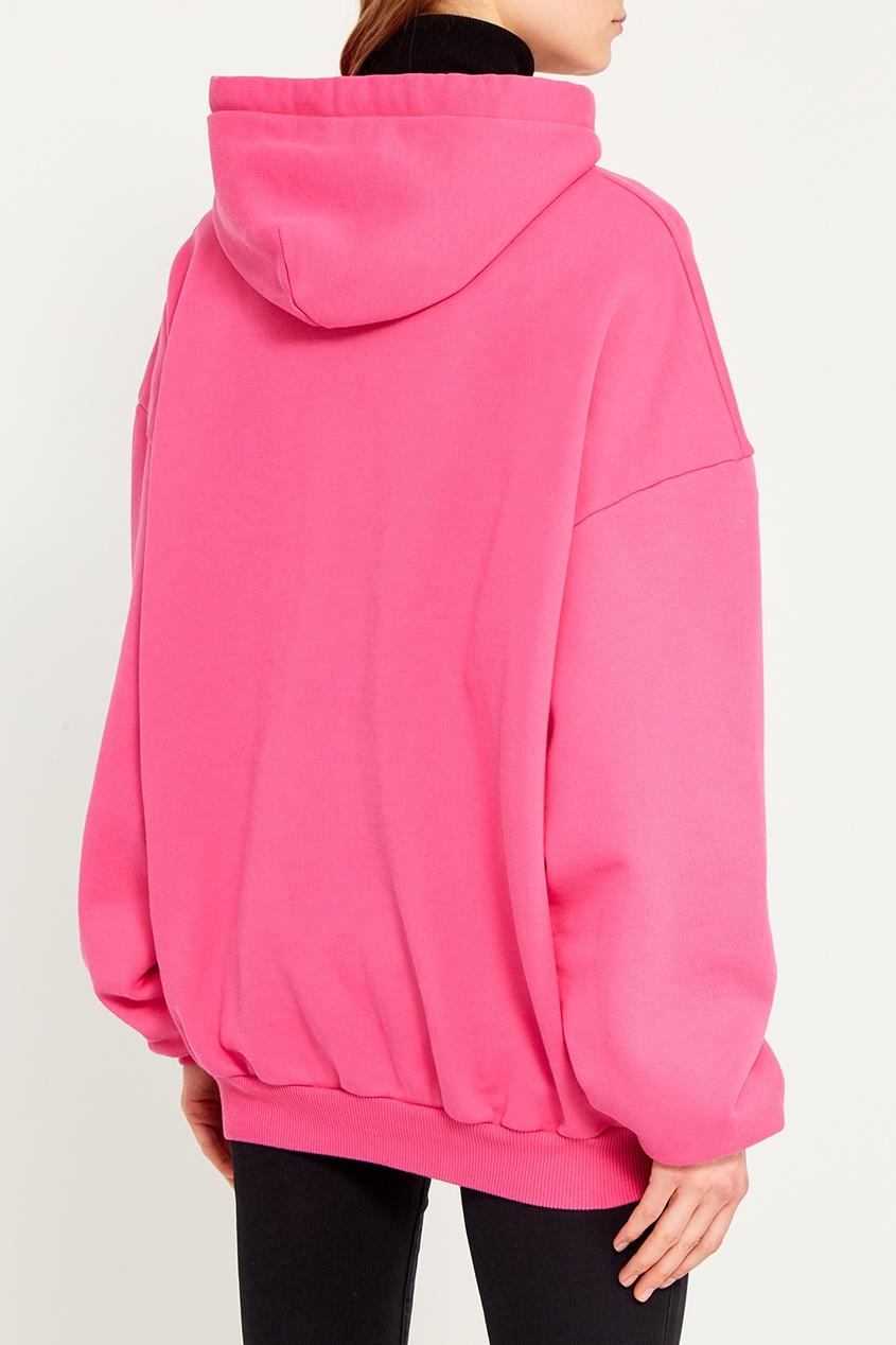 Розовое худи с принтом