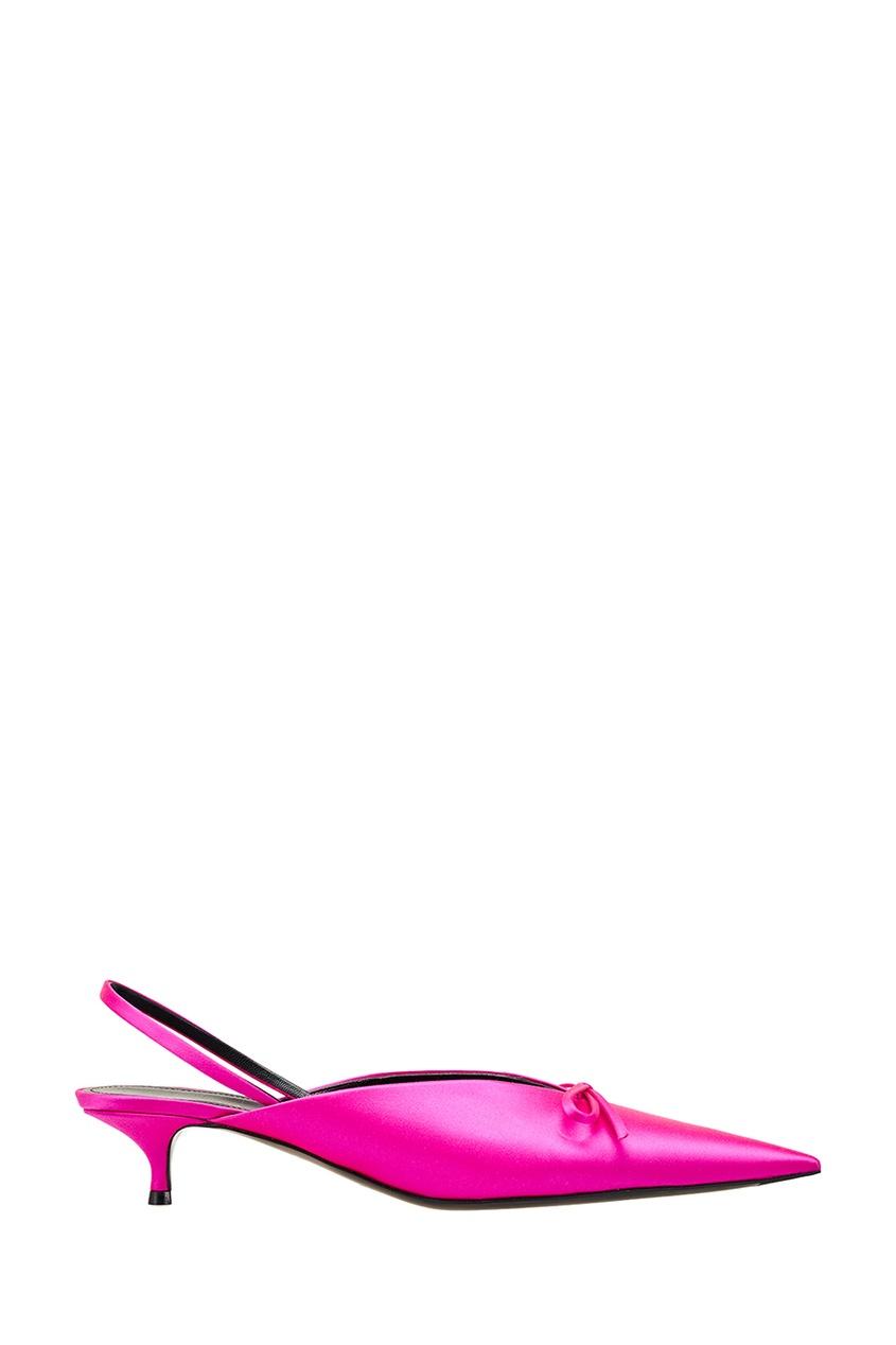 Balenciaga Розовые туфли с атласной отделкой