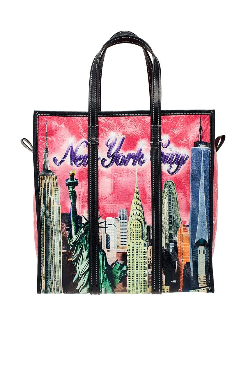 Balenciaga Кожаная сумка с принтом Bazar New York S kate spade new york сумка на руку