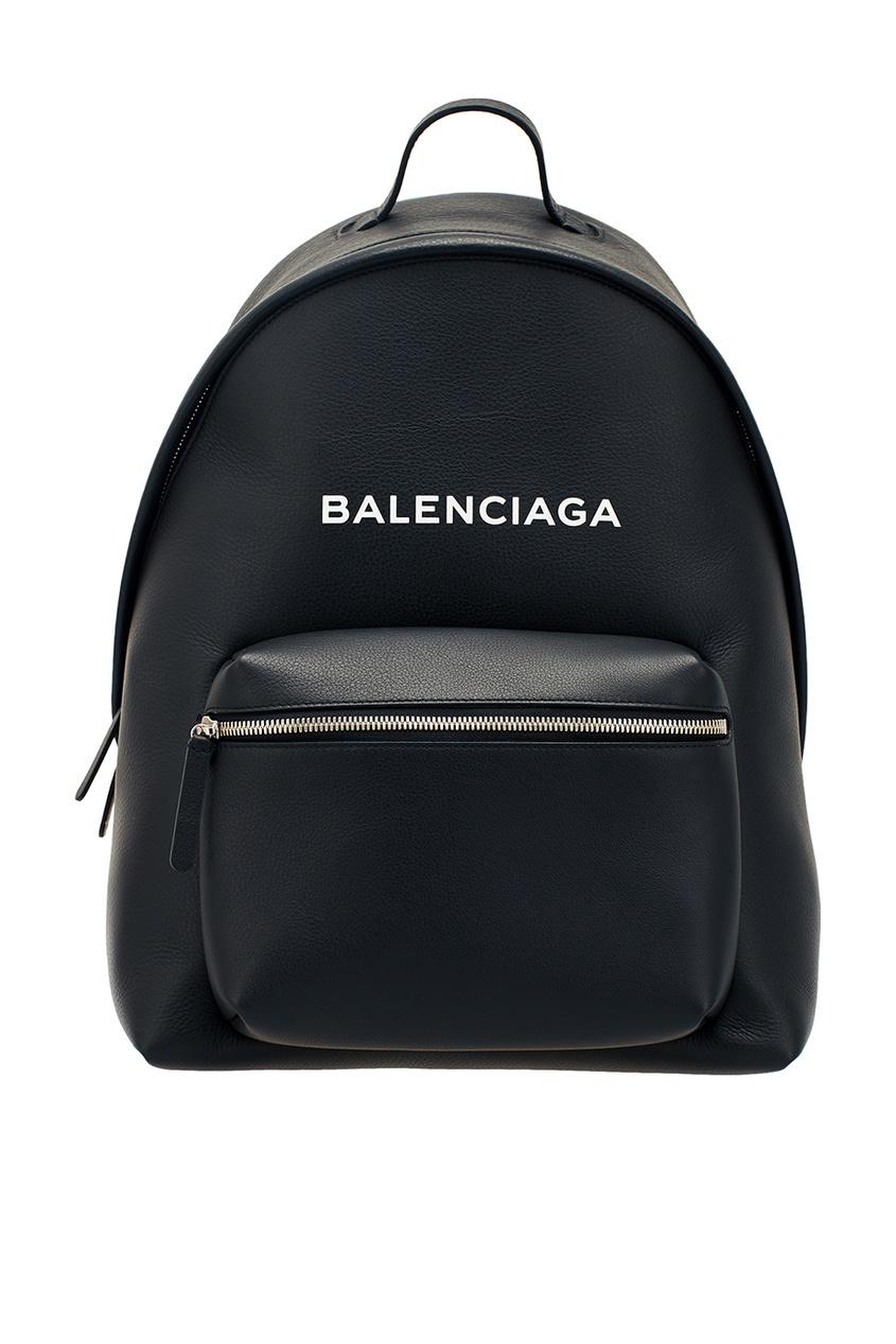 Balenciaga Черный кожаный рюкзак Everyday кожаный рюкзак