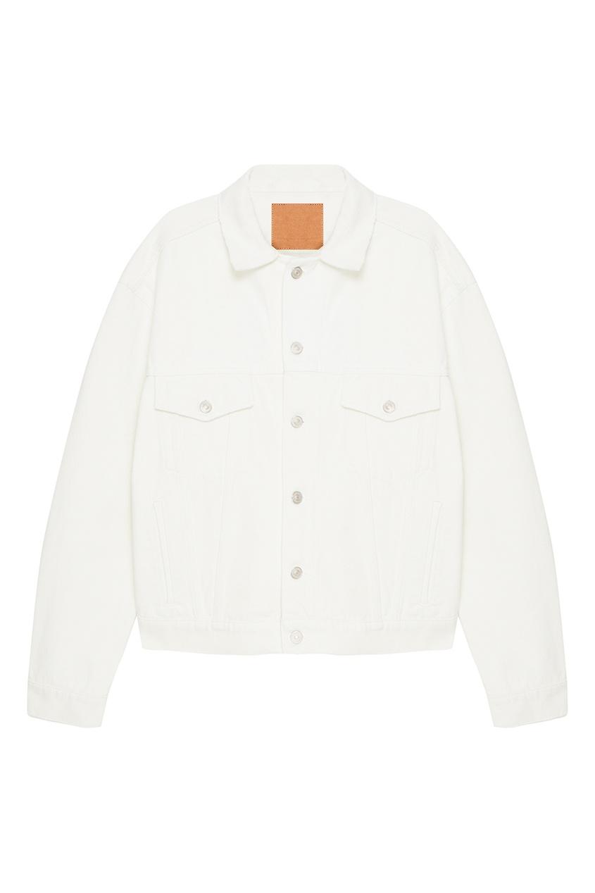 Balenciaga Белая джинсовая куртка куртка голубого цвета brums ут 00008775