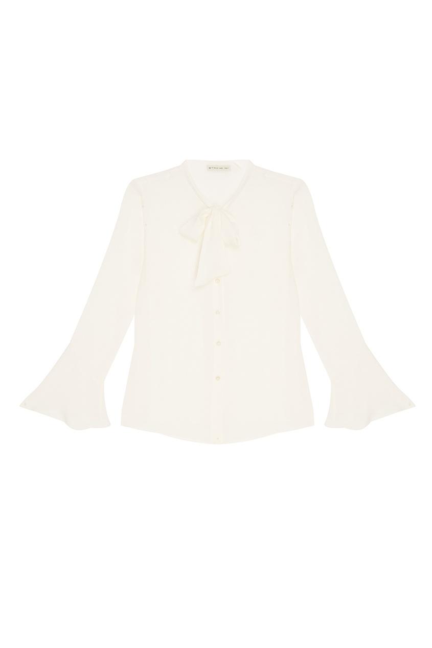 Etro Белая шелковая блузка