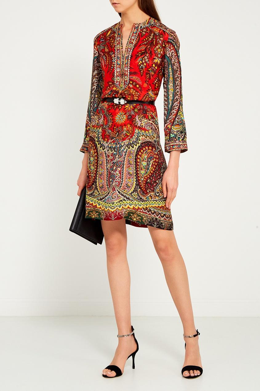 Платье-шифт с орнаментом