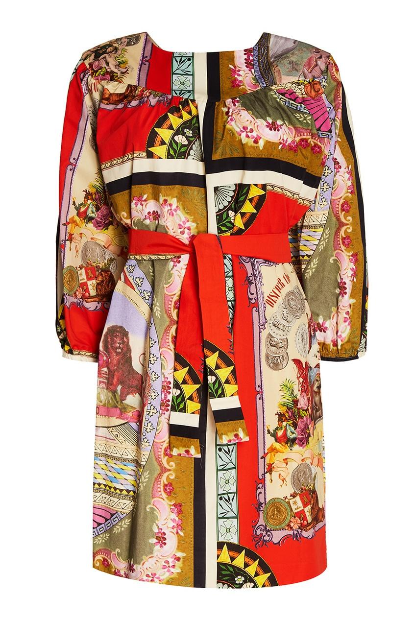 Etro Платье с ярким принтом