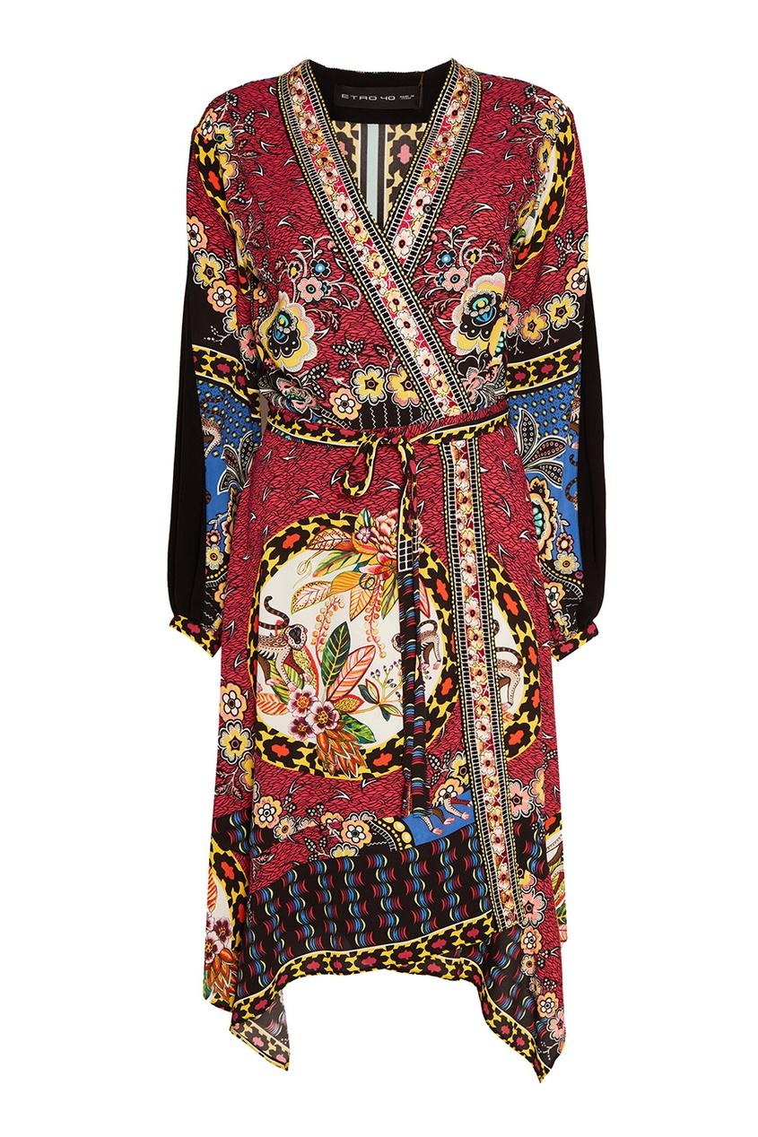 Etro Платье с цветным принтом