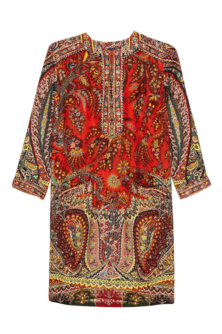 Etro Платье-шифт с орнаментом