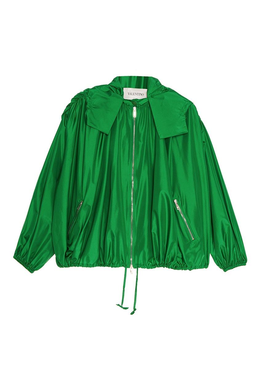 женский жакет valentino, зеленый