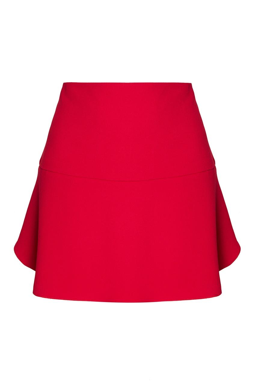 Короткая розовая юбка