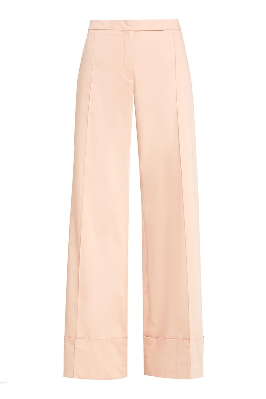 Nina Ricci Широкие брюки со стрелками прямые широкие женские зимние брюки