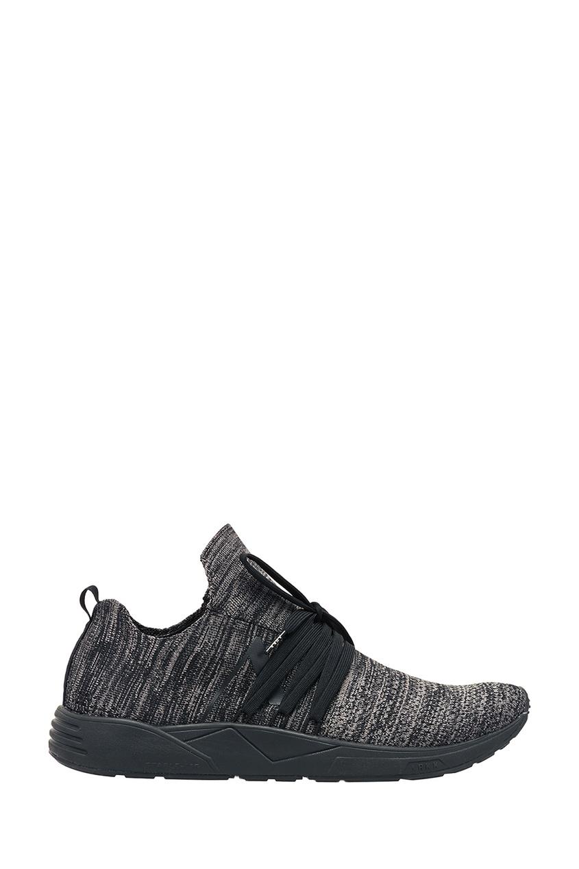 Серые меланжевые кроссовки