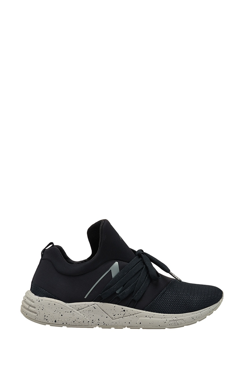 Купить Черные текстильные кроссовки черного цвета