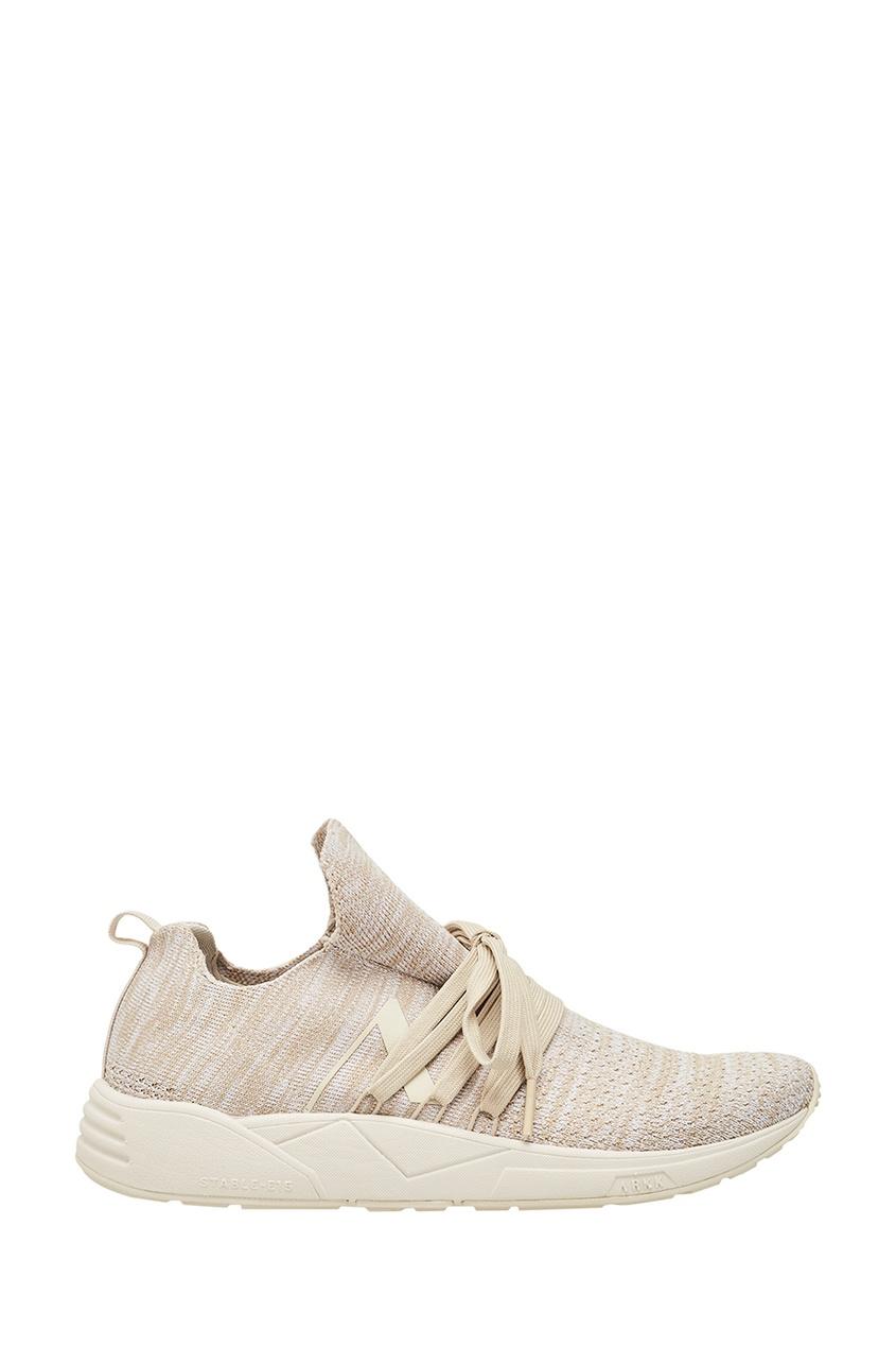 Купить Бежевые кроссовки из джерси бежевого цвета