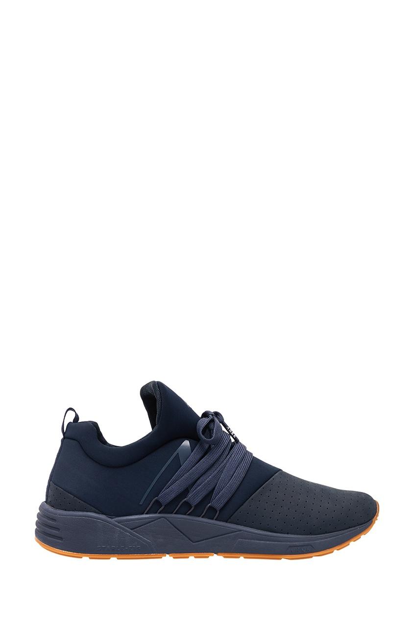 Купить Синие комбинированные кроссовки синего цвета