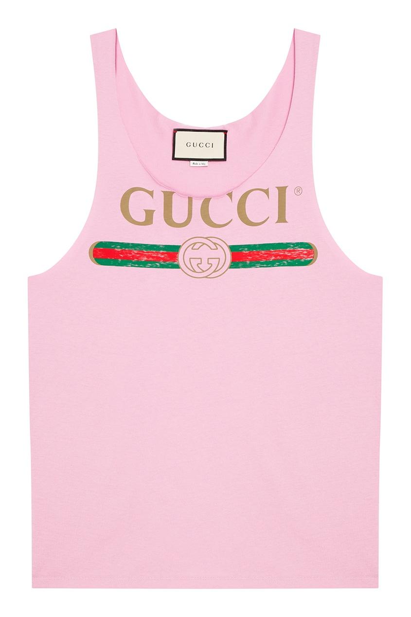 Gucci Фиолетовая майка с логотипом майка linse майка бельевая