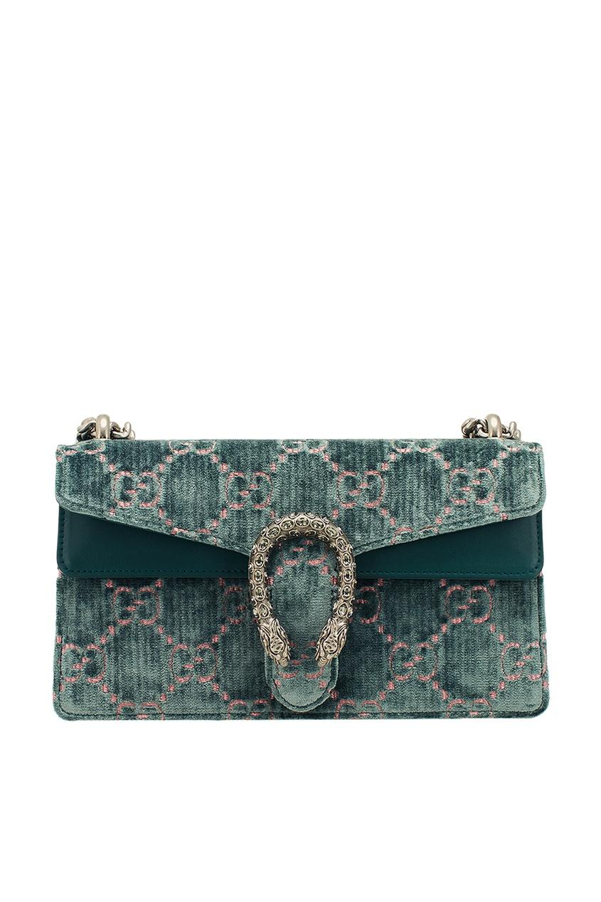 цена Gucci Бархатная сумка с монограммами Dionysus онлайн в 2017 году