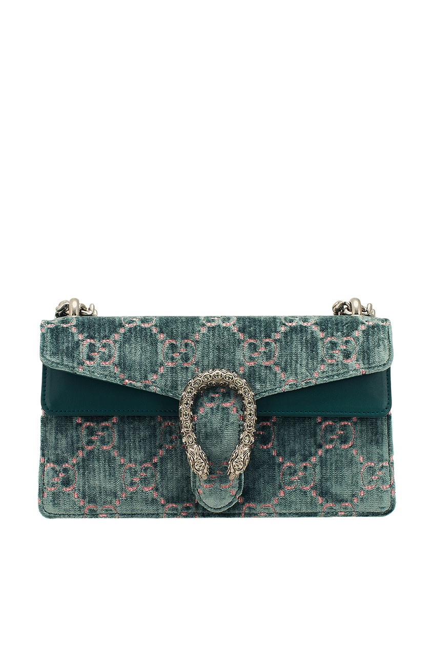 Gucci Бархатная сумка с монограммами Dionysus