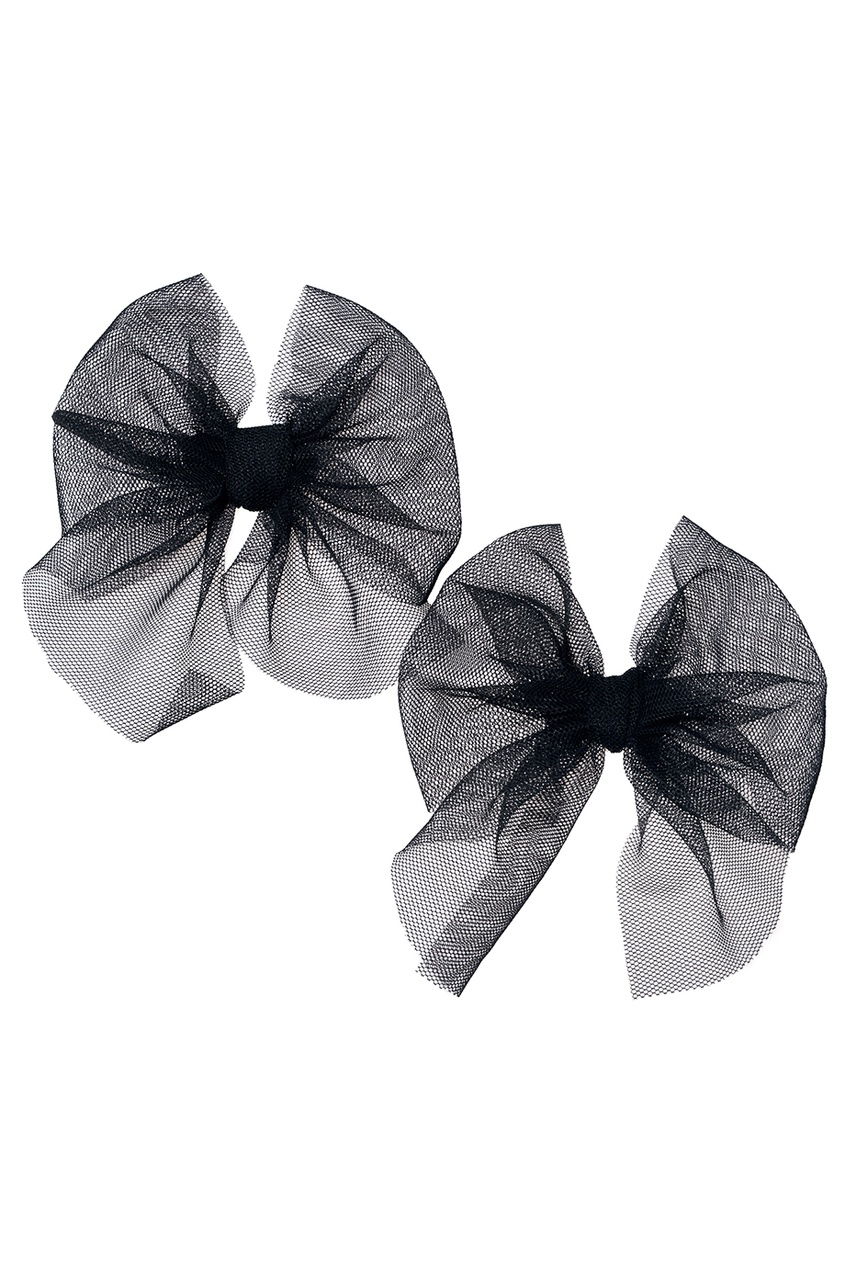 Skirts&More Набор из двух черных брошей