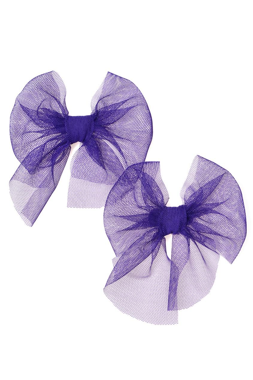 Skirts&More Набор из двух фиолетовых брошей