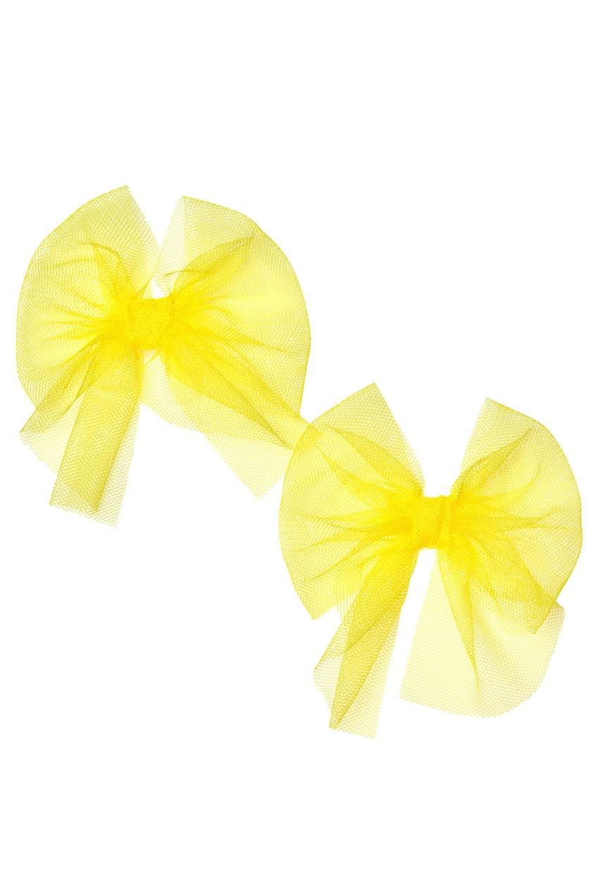 Skirts&More Набор из двух желтых брошей