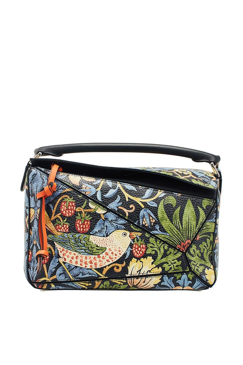 Кожаная сумка с принтом Puzzle