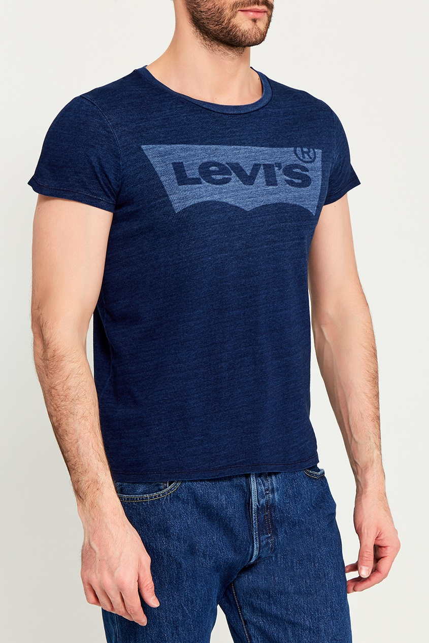 Levi's® Синяя меланжевая футболка с логотипом THE PERFECT TEE парка levi's® 2767300010