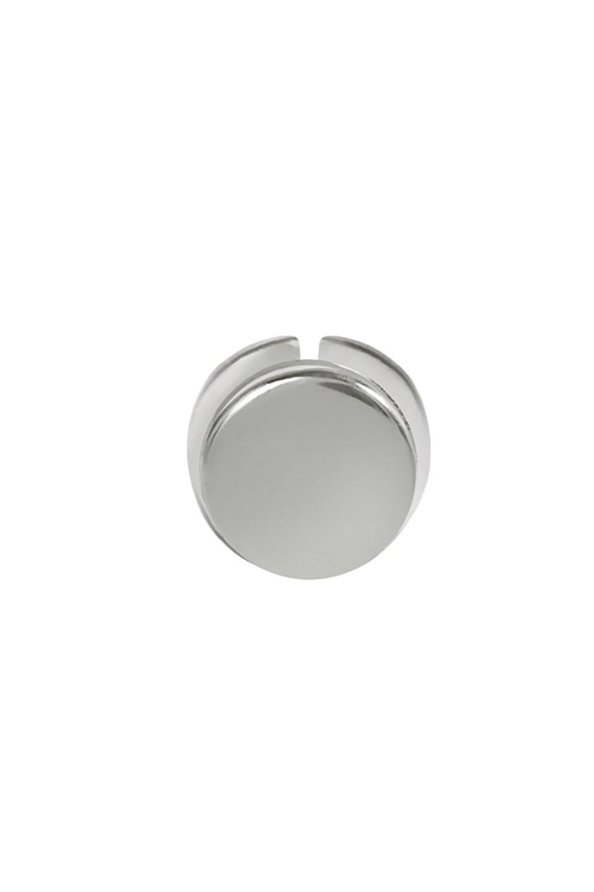 Серебряная круглая серьга-пусета G-Metry