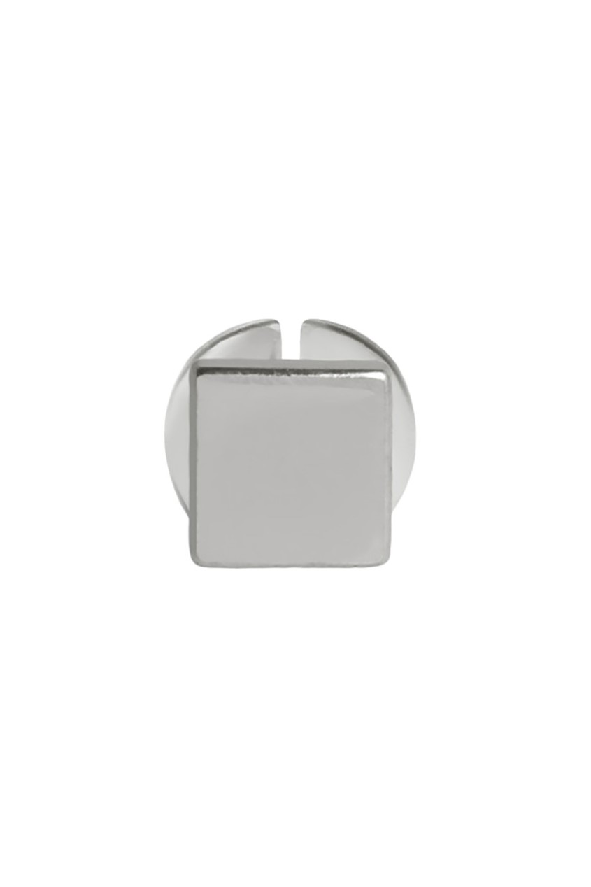 Квадратная серебряная серьга-пусета G-Metry