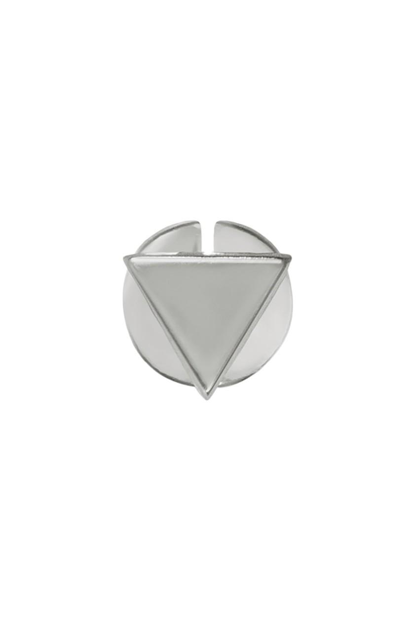 Треугольная серебряная серьга-пусета G-Metry