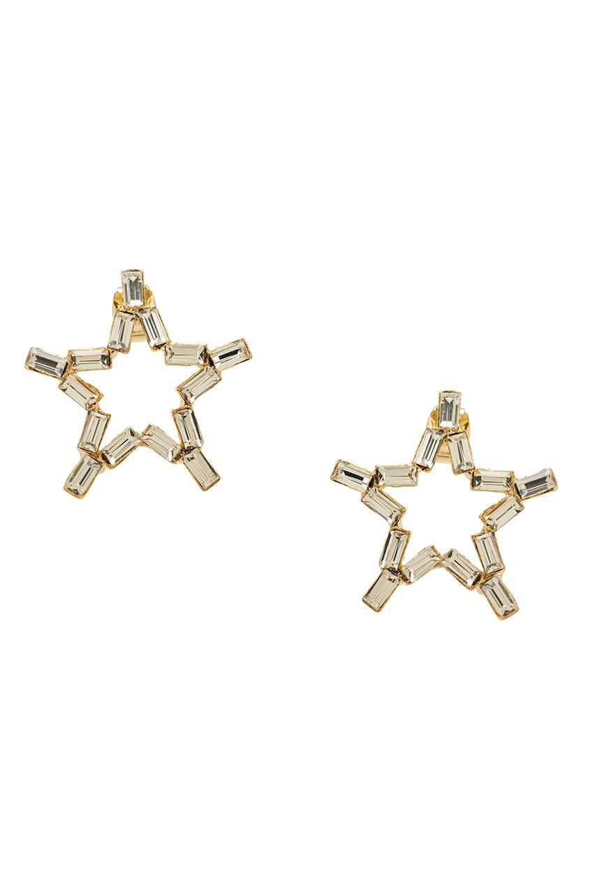 Серьги-звезды с кристаллами