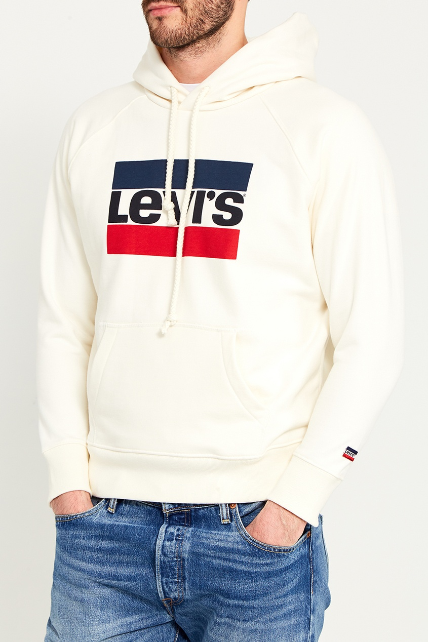 Levi's® Белое худи с логотипом GRAPHIC SPORT HOODIE levi's® синий свитшот с логотипом graphic crew b